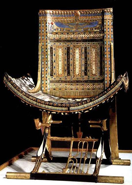 Церемониальное кресло. Гробница Тутанхамона.