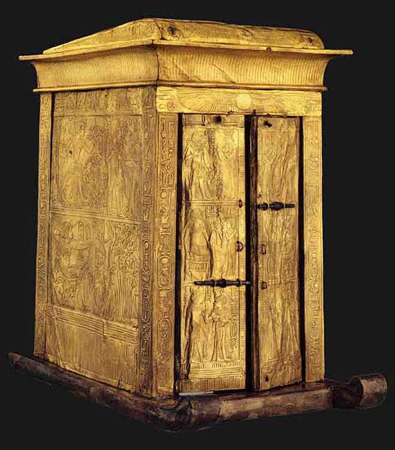 Ковчег для статуи. Гробница Тутанхамона.