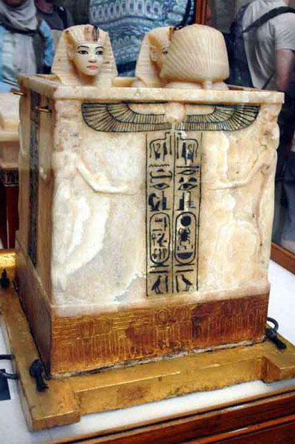 Ящик для каноп. Сторона 2. Гробница Тутанхамона.