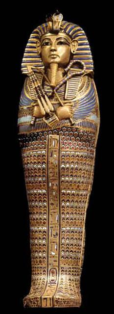 Сосуд из канопы в форме саркофага. Гробница Тутанхамона.
