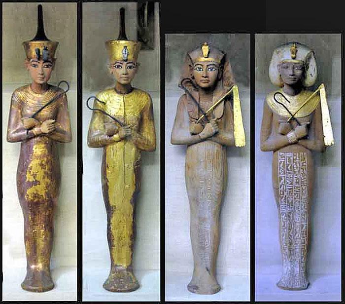 Фигурки ушебти фараона Тутанхамона.