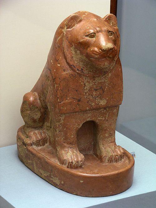 Керамический лев. Эшмоловский музей.