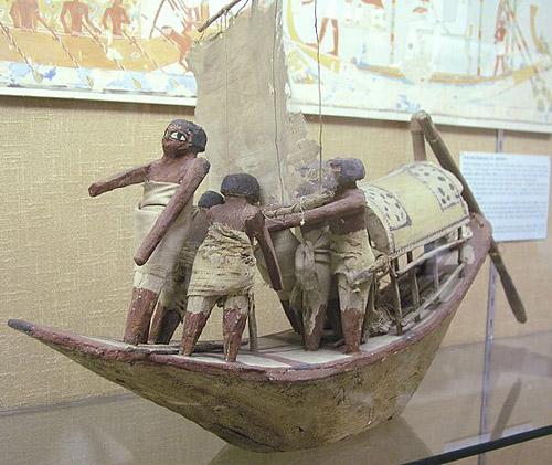 Модель древнеегипетской лодки. Эшмоловский музей.