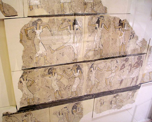 """""""Танцоры"""" из фиванской гробницы. Эшмоловский музей."""