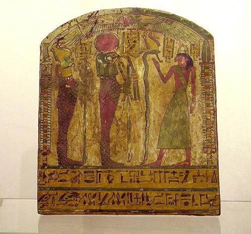 Деревянная панель из гробницы Джедджехутефанкха. Эшмоловский музей.