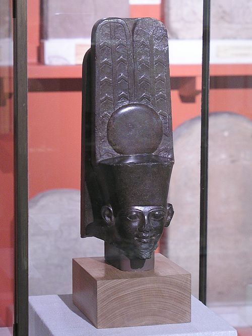 Голова статуи бога Амона. Эшмоловский музей.