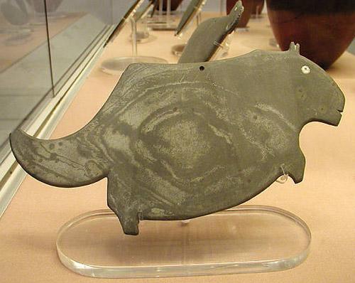 Палетка в форме гиппопотама. Британский музей