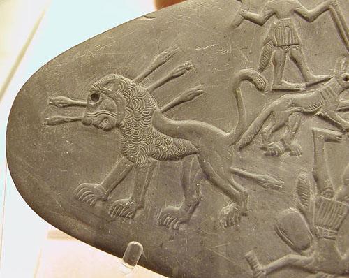 Палетка с изображением охоты. Британский музей