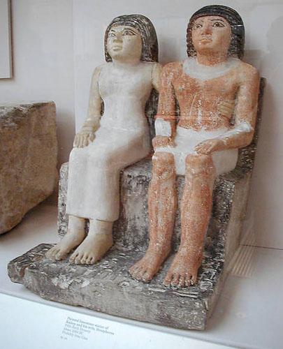 Статуя супружеской пары. Кайтеп и его жена Хетеферес. Британский музей