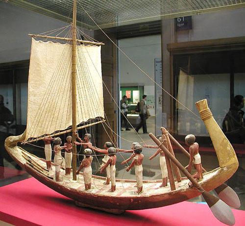 Модель египетского судна. Британский музей