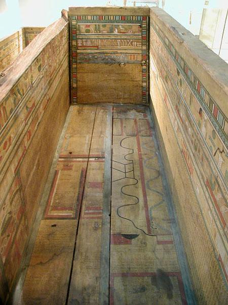 Карта загробного мира. Рисунок из саркофага Гуа. Британский музей