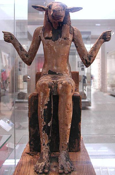 Деревянная статуя демона. Британский музей