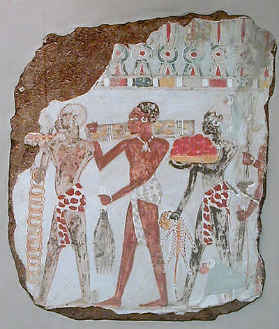 Рисунок подношения подарков фараону. Британский музей