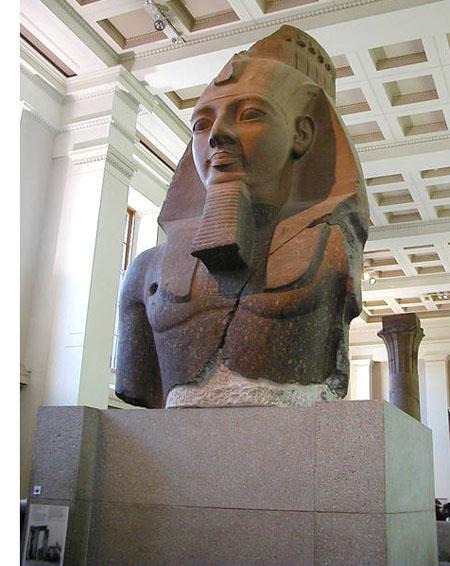 Голова статуи фараона Рамсесса II. Британский музей
