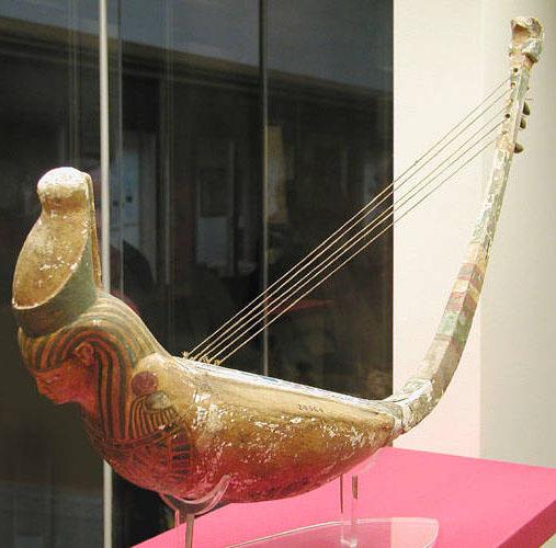 Древнеегипетская арфа. Британский музей