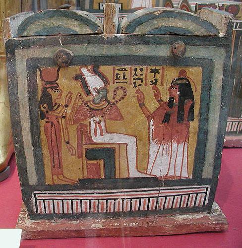 Расписной ящик для фигурок ушебти. Британский музей