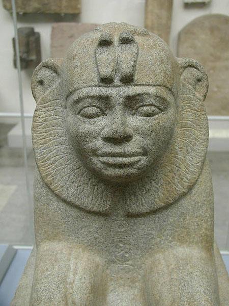 Фараон Тахарка в виде сфинкса. Британский музей