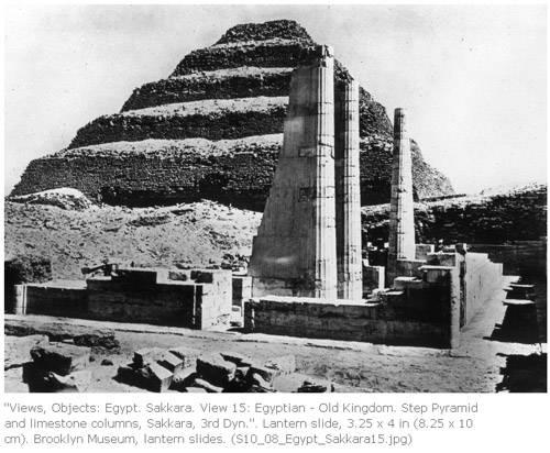 Царский павильон и южная сторона пирамиды Джосера.