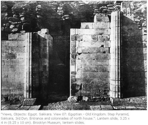 Северный дом. Колоннада при входе в храм. Погребальный комплекс фараона Джосера.