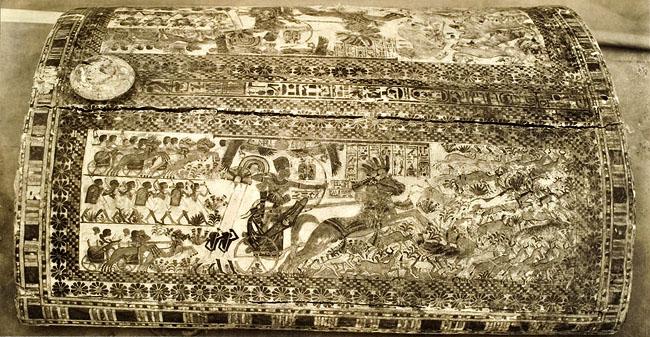 Расписной ларец фараона Тутанхамона. Верхняя крышка.