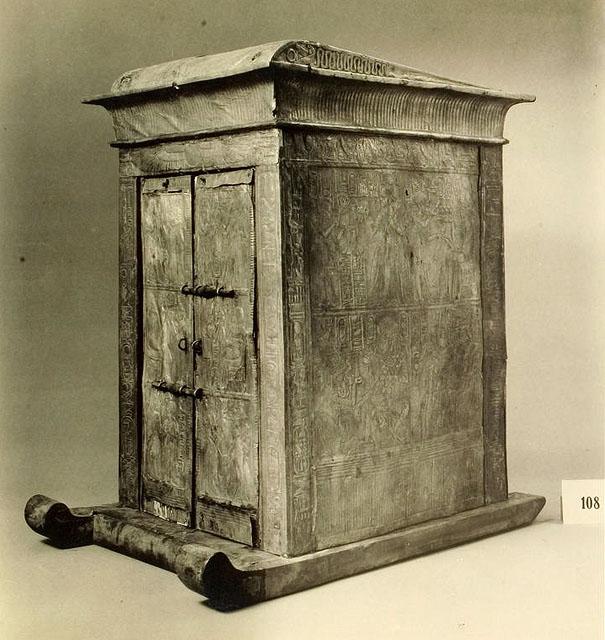 Ковчег для статуи. Вид сбоку. Гробница Тутанхамона.