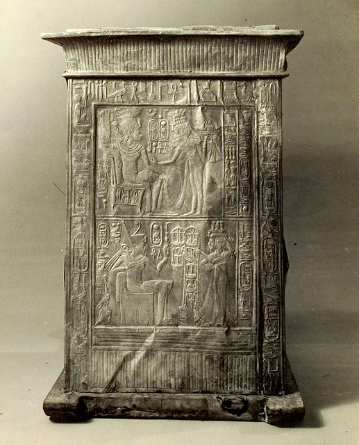 Ковчег для статуи. Вид на широкую сторону. Гробница Тутанхамона.