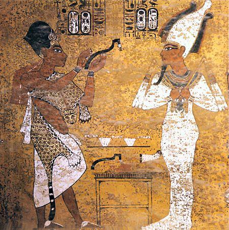 """Церемония """"отверзания уст"""". Гробница Тутанхамона. Каирский музей"""