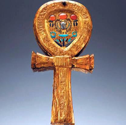 Золотой знак Анкх. Гробница Тутанхамона. Каирский музей .