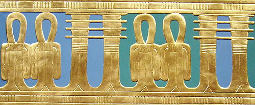 Орнаменты. Джед и узлы Изиды. Гробница Тутанхамона. Каирский музей .