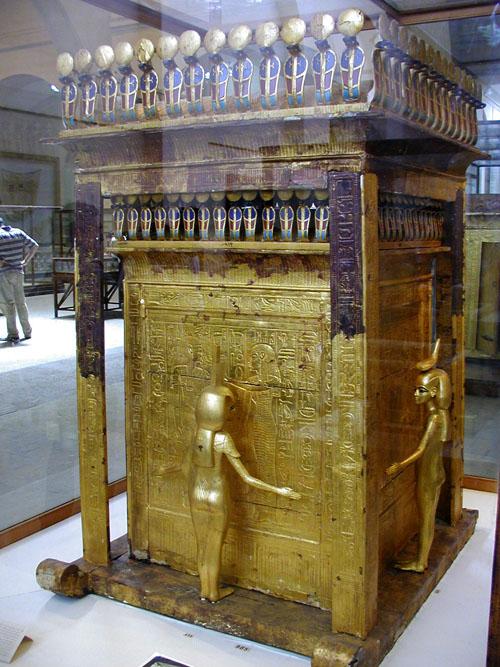 Золоченая молельня. Гробница Тутанхамона. Каирский музей .