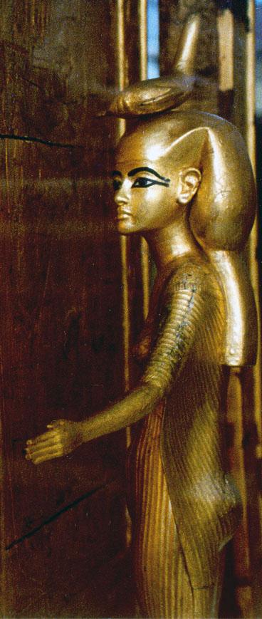 Богиня Селкит, охраняющая молельню Тутанхамона.