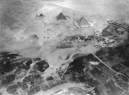 Пирамиды Гизы. Фото с воздушного шара 1904 год