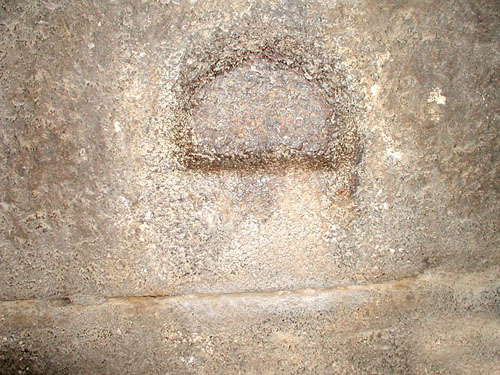 Ниша в стене предкамеры камеры Царя. Пирамида Хуфу (Хеопса).