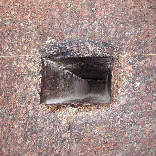 Северный воздушный колодец в камере Царя. Пирамида Хуфу (Хеопса).