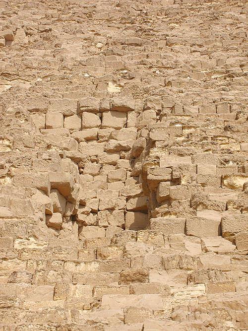 Углубление Вайса на южной стороне. Пирамида Хуфу (Хеопса).