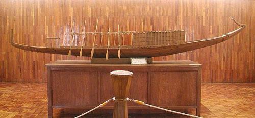 Модель солнечной ладьи Хеопса. Пирамида Хуфу (Хеопса).
