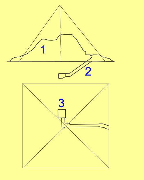 План малой пирамиды G1A.