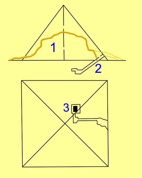 План малой пирамиды G1B.
