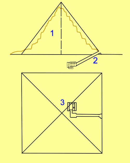 План малой пирамиды G1C.