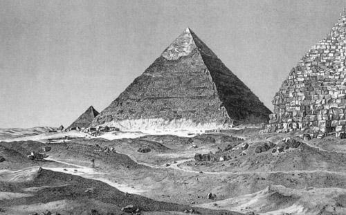 Изображение начала девятнадцатого века. Пирамида Хефрена.