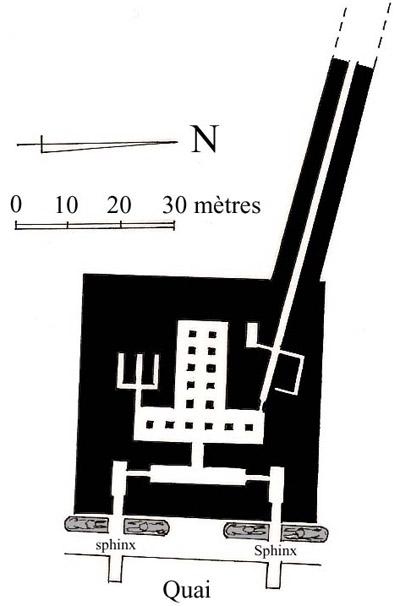 План нижнего храма в долине. Пирамида Хефрена.