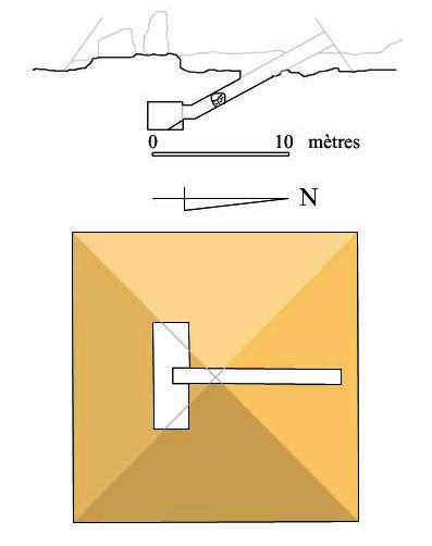 План пирамиды - спутника. Пирамида Хефрена.