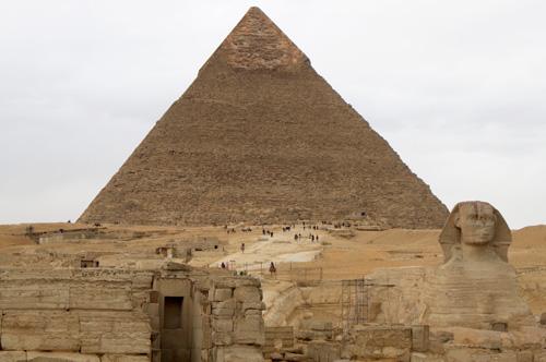 Вход в нижний храм. Пирамида Хафры