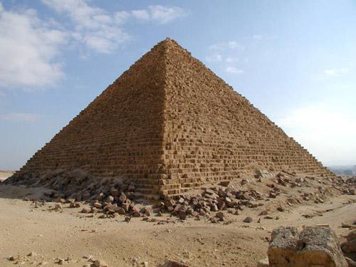 Юго - западный угол пирамиды. Пирамида Микерина (Менкаура).