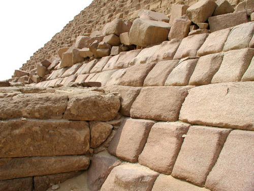 Плиты облицовки. Пирамида Микерина (Менкаура).