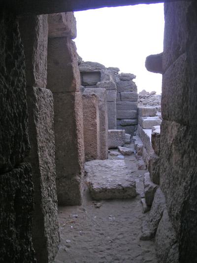 Помешения заупокойного храма. Пирамида Микерина (Менкаура).