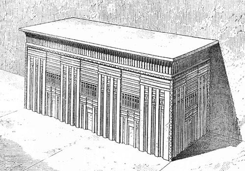 Базальтовый саркофаг. Пирамида Микерина (Менкаура). Перринг - 1882 год