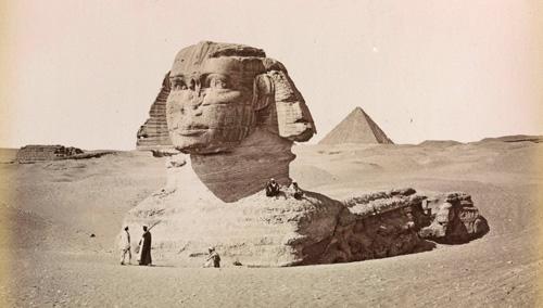 Henri Bechard (active 1870s & 80s); 'Le Sphinx Armachis, Caire' (The Sphinx Armachis, Cairo), about 1880; Albumen print; 21 x 27cm.
