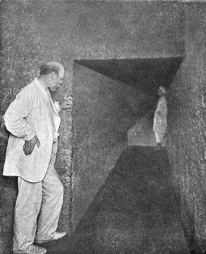 Северная стена Камеры царицы. Пирамида Хеопса в 1909 году.