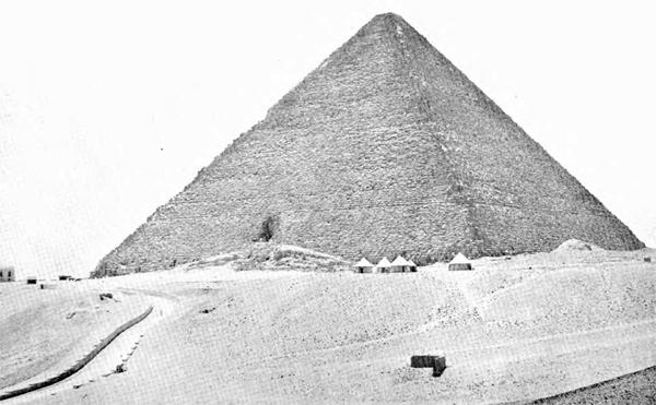 Пирамида Хуфу (Хеопса). Полевой лагерь экспедиции Эдгар. 1909 год.
